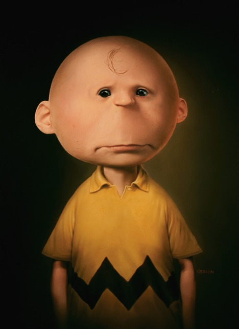 Charlie Brown as a realistic illustration